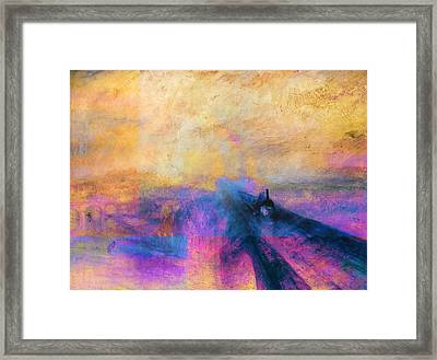 Inv Blend 12 Turner Framed Print by David Bridburg
