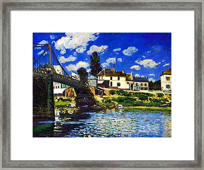 Inv Blend 14 Sisley Framed Print by David Bridburg