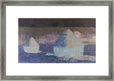 Inv Blend 8 Monet Framed Print by David Bridburg