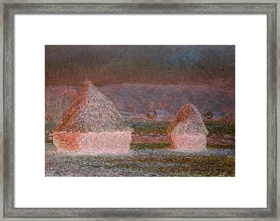 Inv Blend 9 Monet Framed Print by David Bridburg