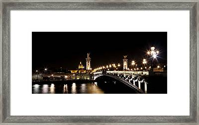 Framed Print featuring the photograph Invalides At Night 1 by Andrew Fare
