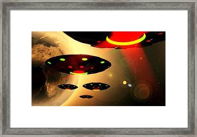 Invasion By Raphael Terra Framed Print