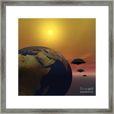 Invasion Framed Print by Corey Ford
