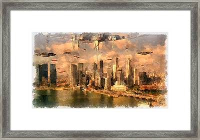 Invasion Earth Framed Print by Esoterica Art Agency