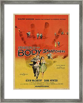 Invasion Of The Bodysnatchers Vintage Movie Poster Framed Print