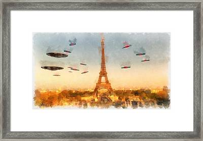 Invasion Paris Framed Print by Esoterica Art Agency
