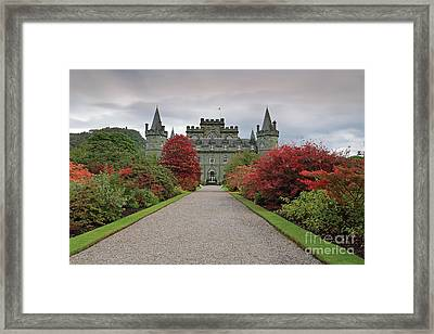 Inveraray Castle In Autumn Framed Print by Maria Gaellman