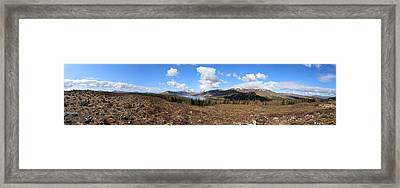 Invergarry Cairns Panorama Framed Print