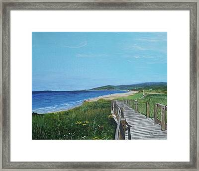 Inverness Beach Framed Print by Betty-Anne McDonald
