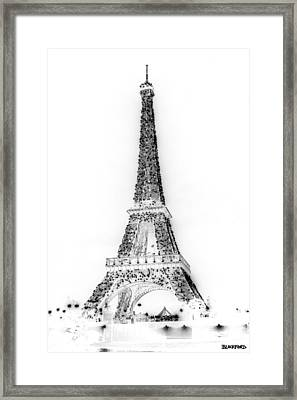 Inverted Eiffel Tower Framed Print by Al Blackford