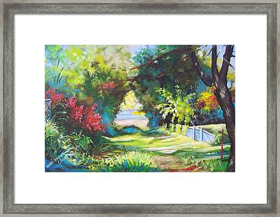 Inverted Heart Lullaby Lane Framed Print by Bobbi Baltzer-Jacobo