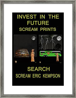 Invest In The Future Framed Print