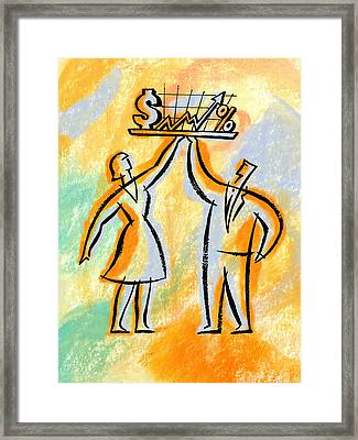 Investor And Investments Framed Print
