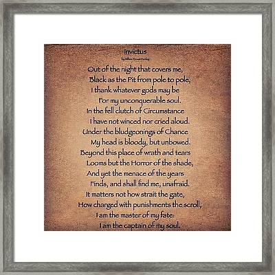 Invictus #poem Framed Print