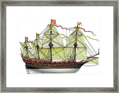 Invincible Armada Galleon Framed Print
