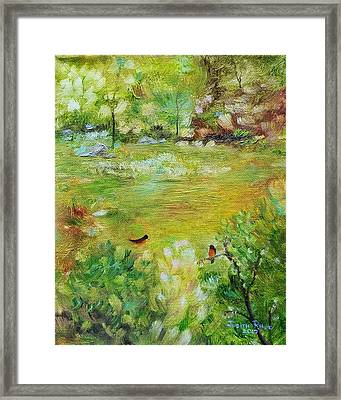 Framed Print featuring the painting Invincible Spring by Judith Rhue