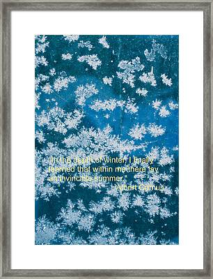 Invincible Summer Within Framed Print by Deborah Dendler