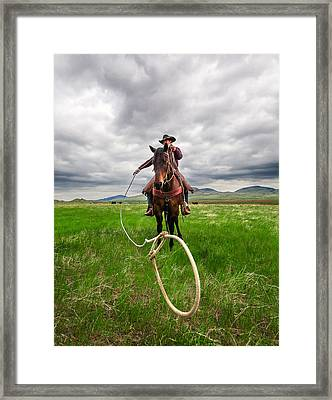 Invisible Calf Framed Print
