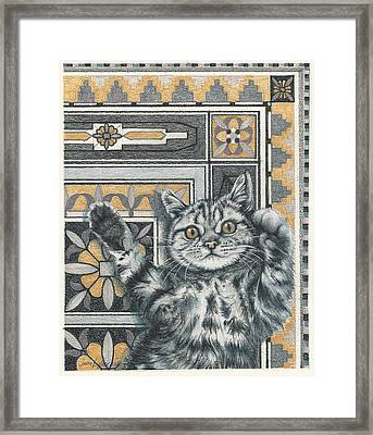 Invisible Cat Framed Print