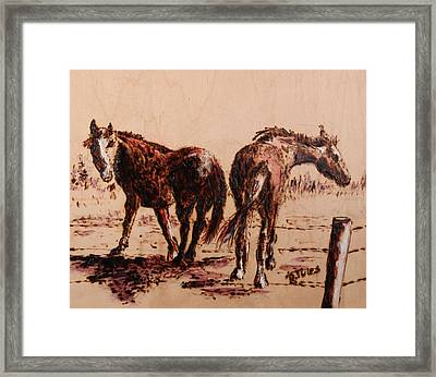 Invisible Fence Framed Print