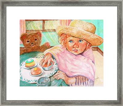 Invitation Only Tea Party Framed Print by Sandra Valentini