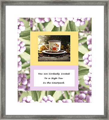 Invitation To Tea Framed Print