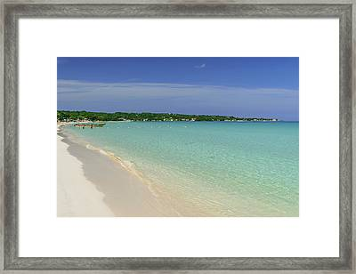 Seven Mile Beach, Negril Framed Print