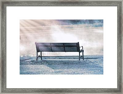 Inviting Morning Bench Framed Print by Dan Sproul