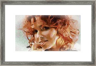 Framed Print featuring the digital art Inviting Smile by Gun Legler