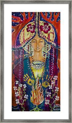 Invoking Shekinah Framed Print by Shiloh Sophia McCloud