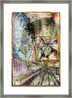 Framed Print featuring the digital art Inw_20a5067_peasantries_profile-left by Kateri Starczewski