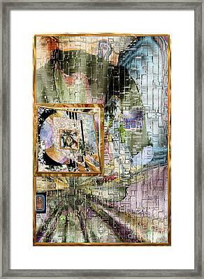 Framed Print featuring the digital art Inw_20a5068_peasantries_profile-right by Kateri Starczewski