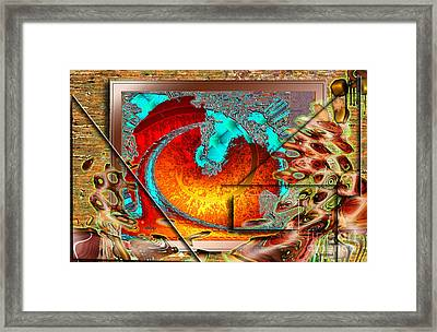 Framed Print featuring the digital art Inw_20a0600a_siblings by Kateri Starczewski