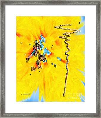 Framed Print featuring the digital art Inw_20a5227rz_grow by Kateri Starczewski