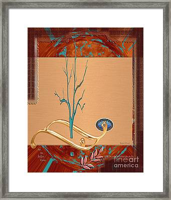 Framed Print featuring the digital art Inw_20a5563_sap-run-feathers-to-come by Kateri Starczewski