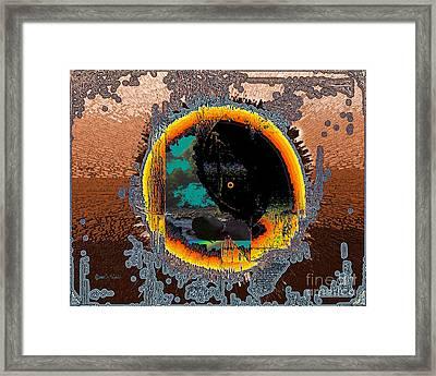 Framed Print featuring the digital art Inw_20a5566_morning-cliffs by Kateri Starczewski