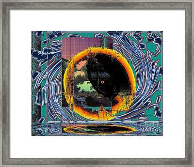 Framed Print featuring the digital art Inw_20a5567_morning-cliffs by Kateri Starczewski