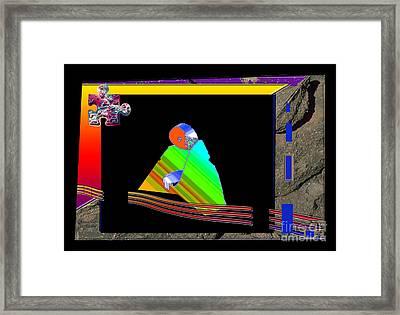 Framed Print featuring the digital art Inw_20a6454_between-rocks by Kateri Starczewski