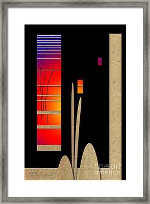 Framed Print featuring the digital art Inw_20a6466_mutual-awakening by Kateri Starczewski