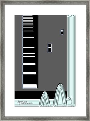 Framed Print featuring the digital art Inw_20a6467_basements_faamer by Kateri Starczewski