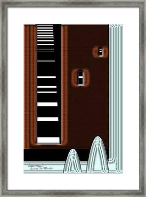 Framed Print featuring the digital art Inw_20a6472_basements by Kateri Starczewski