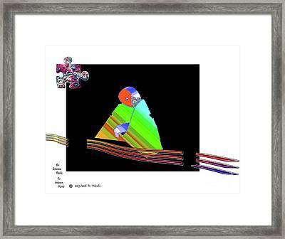 Framed Print featuring the digital art inw_20a6501 Be between Rocks by Kateri Starczewski