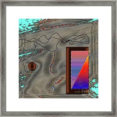 Framed Print featuring the digital art Inw_20a6504 Cheek To Cheek by Kateri Starczewski