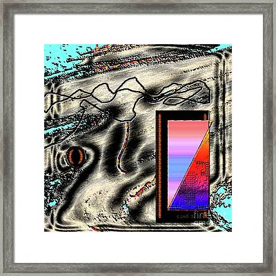 Framed Print featuring the digital art Inw_20a6505 Universal Mining by Kateri Starczewski