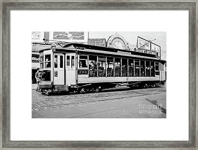 Framed Print featuring the photograph Inwood Crosstown Trolley  by Cole Thompson