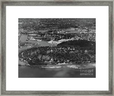 Framed Print featuring the photograph Inwood Hill Park Aerial, 1935 by Cole Thompson