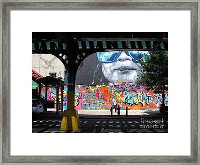 Framed Print featuring the photograph Inwood Street Art  by Cole Thompson