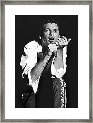 Inxs '88 #3 Framed Print by Chris Deutsch