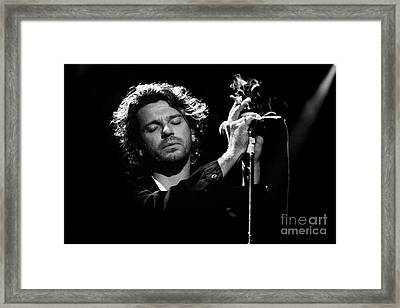 Inxs-94-michael-1339 Framed Print by Timothy Bischoff