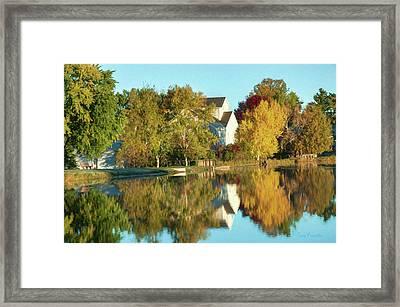 Iola Mill Fall View Framed Print